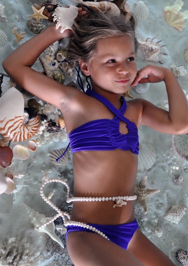 eb760e3fc1bbe Купальники бандо для девочек BAEL Коса 5513 146 Фиолетовый BAEL 5513 ...