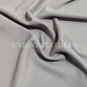 Креп-дайвинг трикотаж металлик светло-серый