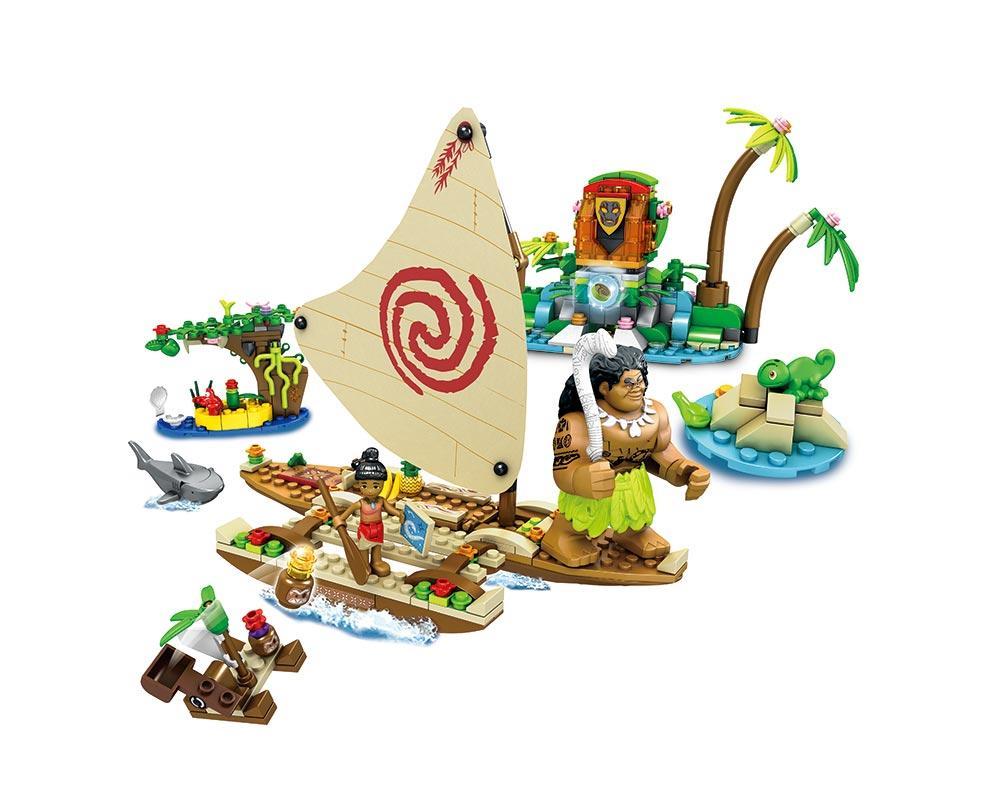 Конструктор JVToy, Принцессы, Морское путешествие Моаны, 399 деталей (15004)