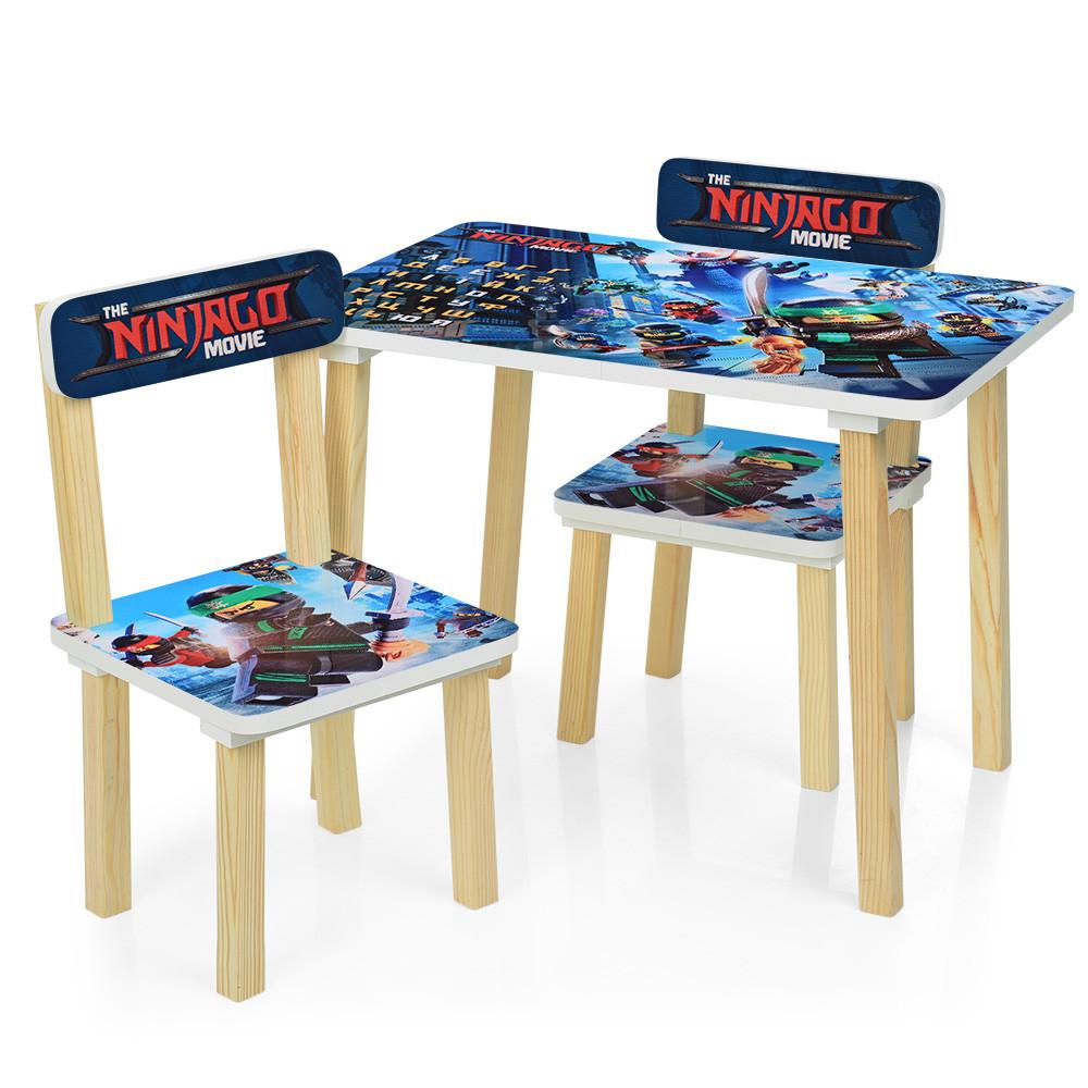 Детский деревянный столик со стульчиками 501-57 Ninjago Blue Гарантия качества Быстрая доставка