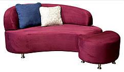Кушетка-диван Марта на хромованих ніжках, не розкладна. Під замовлення