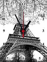 """Настенные часы МДФ  """"в Париже"""" кварцевые, фото 1"""