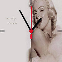 "Настенные часы на стекле ""Мерлин Монро"" кварцевые"