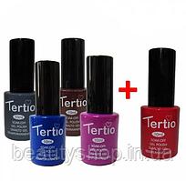 Набір гель-лаків Tertio 4+1, для нігтів, манікюру