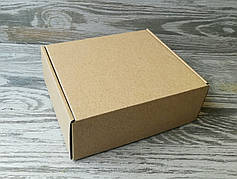 Коробка крафт самосборная 16 * 14 * 6 см
