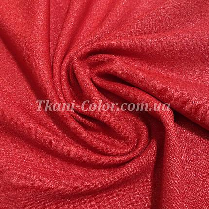 Креп-дайвинг трикотаж металлик красный, фото 2