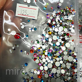 Микс цветных камней, 1400шт, стекло