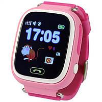 Детские телефон-часы с GPS трекером UWatch Q100 розовые