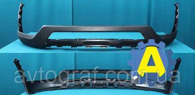 Губа бампера переднего на Хьюндай Санта Фе (Hyundai Santa Fe) 2012-2015