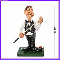 Статуэтка Снукерист 17 см W.Stratford, прикольный подарок игроку в бильярд, фото 1