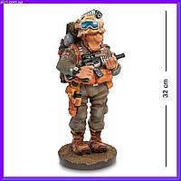 Статуэтка Военный 32 см Profisti.Parastone, прикольный подарок солдату, фото 1