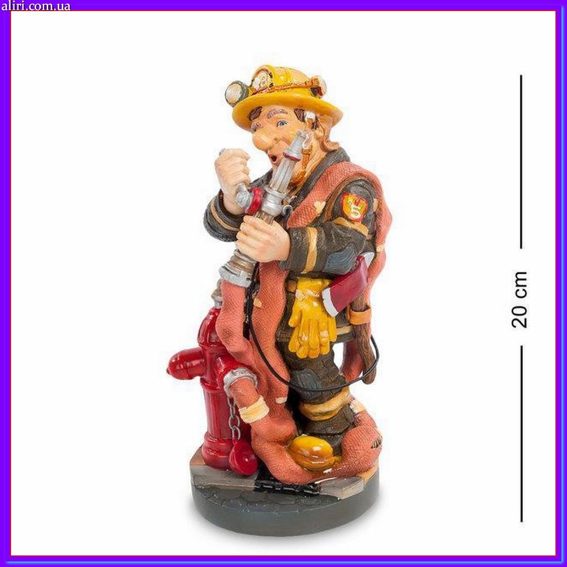 Статуэтка пожарный 20 см Profisti.Parastone, прикольный подарок пожарному МЧС