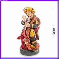 Статуэтка пожарный 20 см Profisti.Parastone, прикольный подарок пожарному МЧС, фото 1