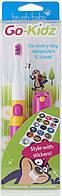 Электрическая (звуковая) зубная щетка Brush Baby Go-Kidz Boxed,розовая+наклейки, фото 1