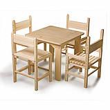 Детский стол и стул сосновый, фото 2