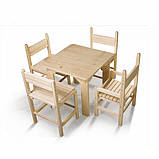 Детский стол и стул сосновый, фото 3