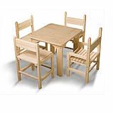 Детский стол и стул сосновый, фото 4