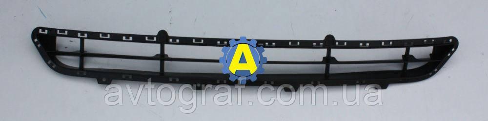 Решетка бампера переднего на Хьюндай Санта Фе (Hyundai Santa Fe) 2012-2015