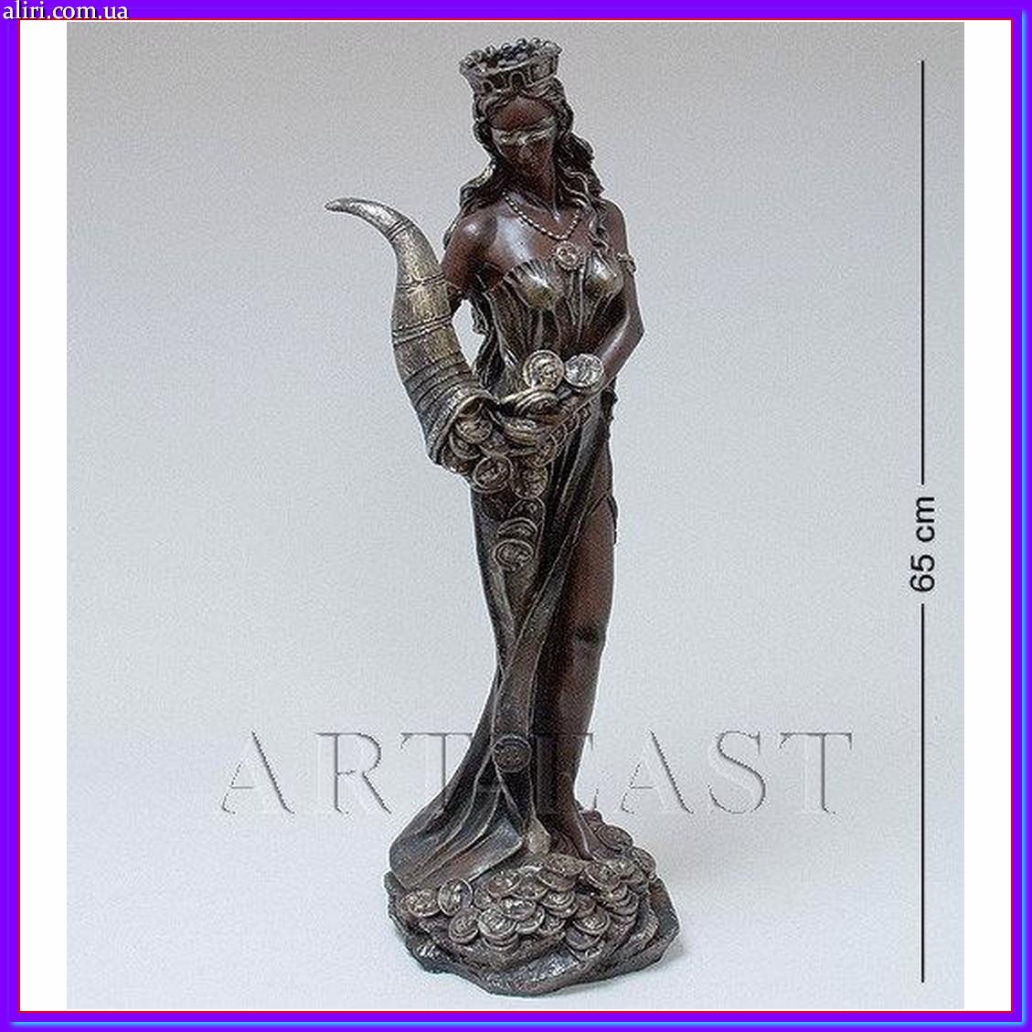 Большая красивая статуэтка Фортуна с рогом изобилия 65 см