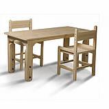 Детский столик растущий + два растущих стульчика, фото 2