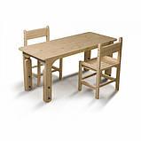 Детский столик растущий + два растущих стульчика, фото 4