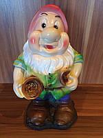 Фигура Гном с совком садовый декор, уличный декор, декор дома, парковый декор