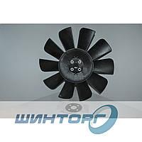 Крыльчатка вентилятора Газ-3302 С/О 4 болта, 10 лопостей с пластиной для установки 3302-1308010-10