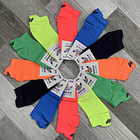 Носки женские спортивные микрофибра Adidas, Турция, 36-40 размер, цветное ассорти, 03471