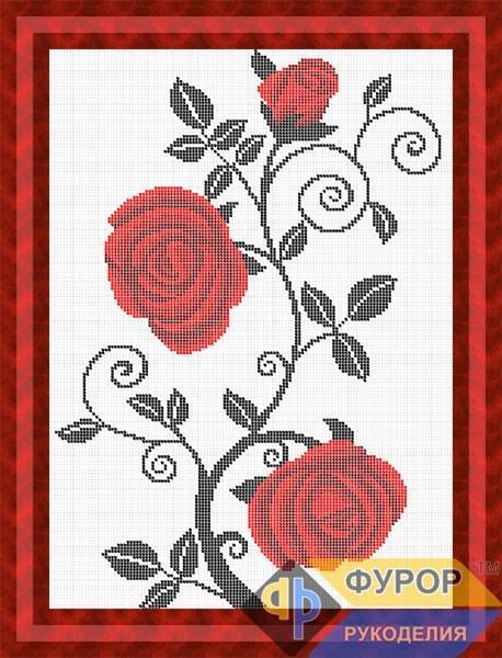 Схема для вишивки бісером картини Абстрактні троянди (НБп3-156)