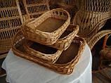 Підноси і лотки плетені з лози