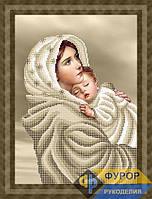 Схема для вышивки бисером - Мадонна с младенцем (сепия), Арт. ЛБч3-086