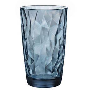 Стакан високий 470 мл Diamond Ocean Blue Bormioli Rocco 350260-M-02321990
