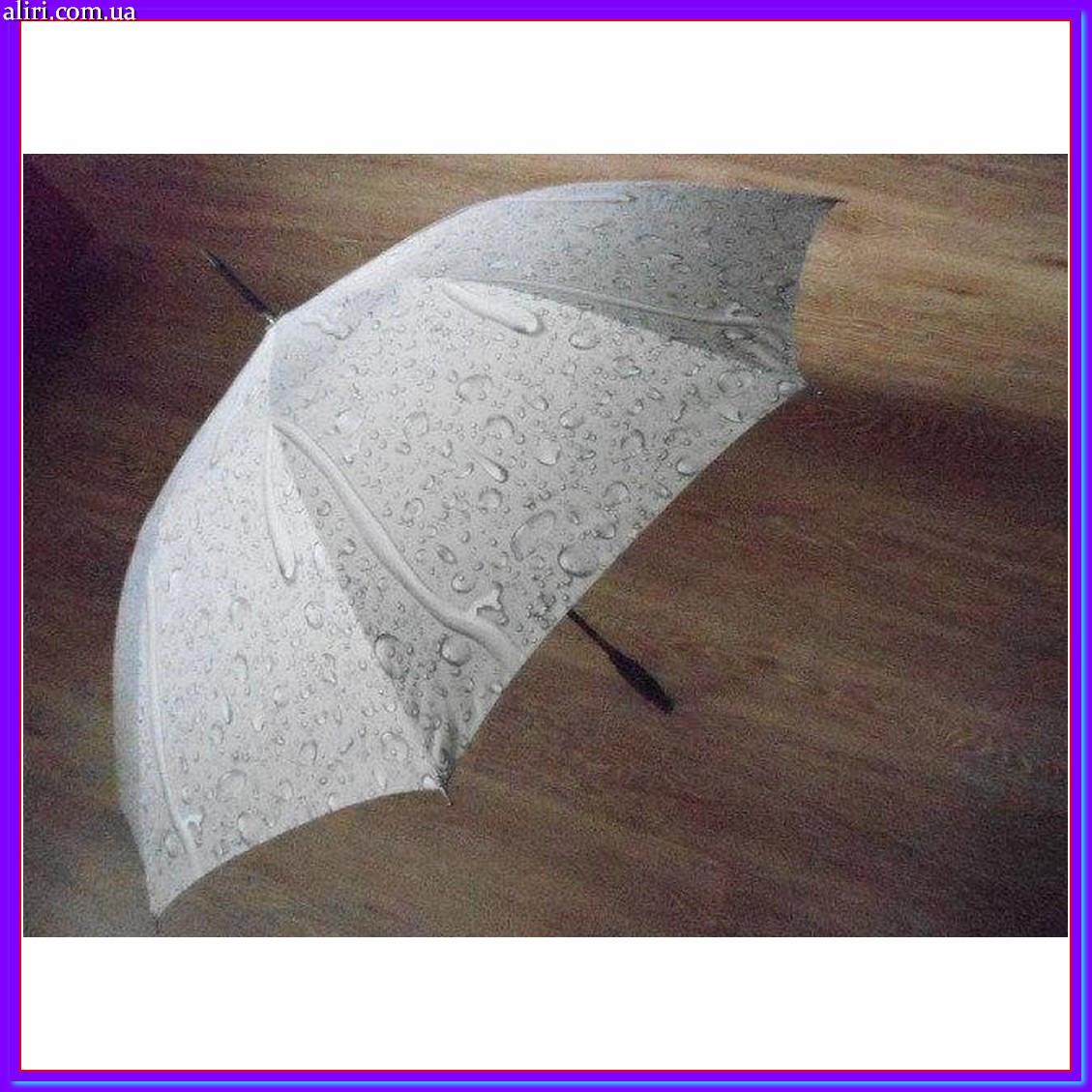 Зонтик трость полуавтомат Капли дождя