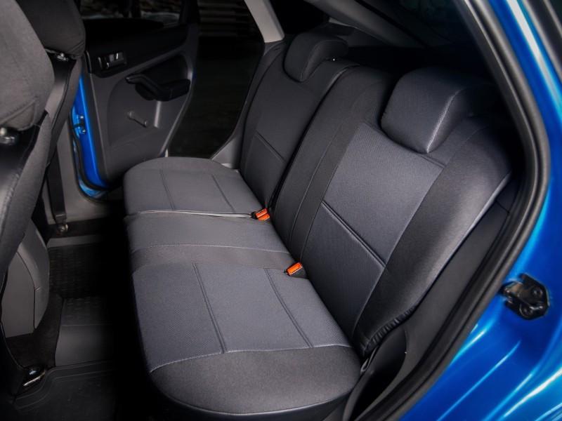 Чехлы на сиденья Форд Транзит (Ford Transit) 1+1  (модельные, автоткань, отдельный подголовник, логотип)