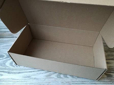 Коробка крафт самосборная 30 * 16 * 9 см, фото 2