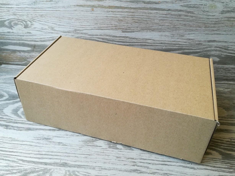 Коробка крафт самосборная 30 * 16 * 9 см