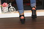 Босоножки женские черные на каблуке натуральная кожа Б941, фото 6