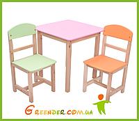 Детский комплект Столик и два стульчика БУК 3