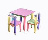 """Детский набор """"Карандашики"""" 60х60 (столик и 2 стульчика) в 4 цветах, фото 3"""