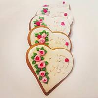 Подарок для женщин - расписной медовый имбирный пряник
