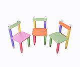 """Комплект, столик """"Карандашики"""" 60*60 (стол с пеналом + стульчик ) в 4 цветах, фото 2"""