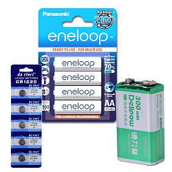 Батарейки таблетки, АА, ААА, 23А, 27А, кроны