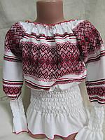 """Оригинальная блуза """"резинка"""" детская с орнаментом, 300/260 (цена за 1 шт. + 40 гр.)"""