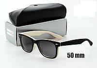 Солнцезащитные очки Ray-Ban Wayfarer 2140 черно белые
