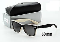 Солнцезащитные очки Ray-Ban Wayfarer 2140 черно белые, фото 1
