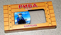 Коробка картонная под кильку (рыбу) копченую 150 гр окошко, фото 1