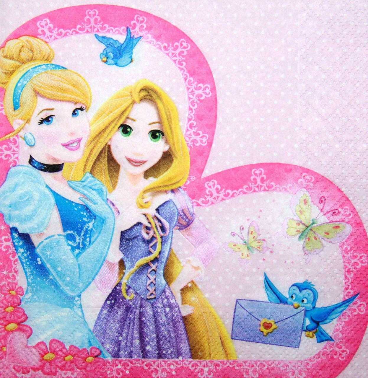 Декупажные салфетки Две принцессы 8025