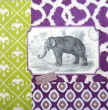 Декупажные салфетки Слон 8038