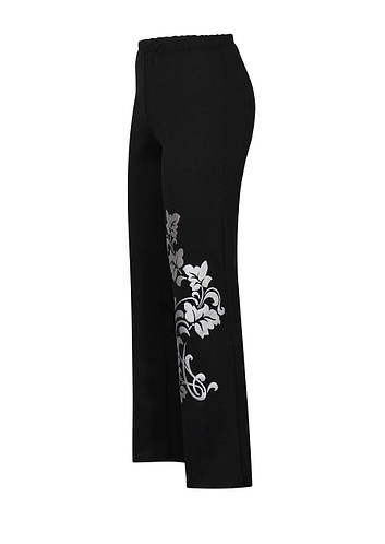 Черные брюки на резинке Лоза