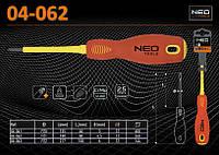 Отвертка крестовая 1000В PZ1х190мм., NEO 04-062
